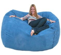 Cozy Sack 6 Feet Bean Bag Chair Large Sky Blue