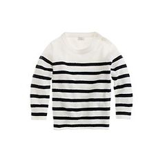 Collection cashmere baby sweater in sailor stripe