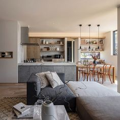 Kitchen Interior, New Kitchen, Kitchen Dining, Home And Living, Living Room, Hygge Home, Kitchen Images, House Layouts, Bars For Home