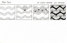 젠탱글 패턴 asian fans : 네이버 블로그