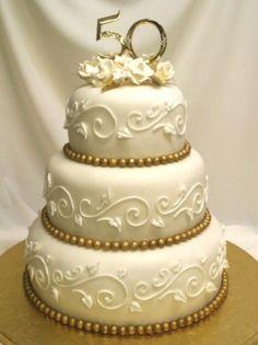 Photo Gallery - 50 Golden Years Anniversary Cake