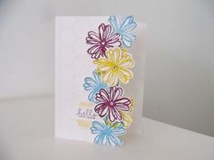 Stampin Up Flower Shop Cascading Flowers - with video
