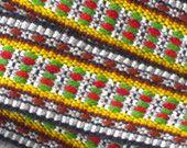Hand woven wol Belt wool strap bohemian woven by Gunaspaleteplus