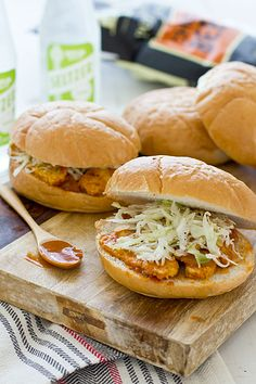 Countdown to grilling weather! In the meantime, these BBQ Tempeh Sandwiches can easily be made in your kitchen.