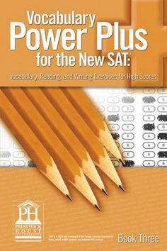 Vocabulary Power Plus for the New SAT - Book One - Daniel A....: Vocabulary Power Plus for the New SAT - Book… #LanguageArtsampDisciplines