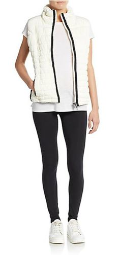 MARC NEW YORK By ANDREW MARC Performance | Faux Leather-Paneled Vest | SAKS OFF 5TH