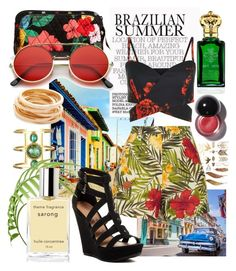 """""""Brazilian summer"""" by danket ❤ liked on Polyvore featuring Kenneth Jay Lane, Miguelina, Vera Bradley, ZeroUV, Clive Christian and Chinese Laundry"""