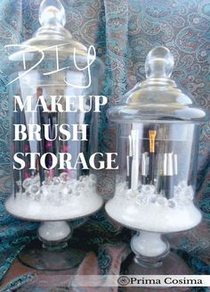 diy dust free makeup brush storage and