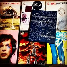 Decided I wanted to learn to play some Beck songs took me a while to locate all these out-of-print music books but this is the whole collection of every Beck songbook released in the US. #beck #becksongreader #beckhansen #odelay #beckodelay #guero #beckguero #mutations #beckmutations #seachange #beckseachange #mellowgold #beckmellowgold #midnightvultures #beckmidnightvultures #music #musicbooks #sheetmusic #tablature #books #songbook #learning #mcsweeneys #halleonard by krisandfrancis
