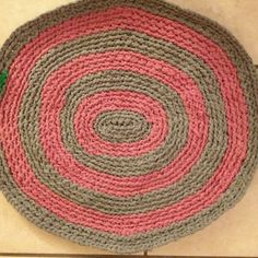 Newest rag rug from Heather.