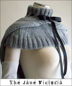 Hooded Mozzetta Knitting PATTERN, Silmarwen Surion, PDF DOWNLOAD