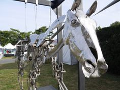 Watch the Mechanical Gallop of a Beautiful Kinetic Horse Sculpture