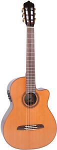 SANTOS MARTINEZ VIRTUOSO BOSSA NOVA ELECTRO-ACOUSTIC CLASSICAL GUITAR - Available now at Candy Apple Red Guitars.  www.CandyAppleRedGuitars.com Nova, Candy Apple Red, Cool Guitar, Music Instruments, Guitars, Bucket, Inspirational, Gift Ideas, Sexy