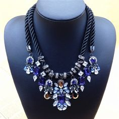 Newest Gorgeous Brand Necklace Fashion Jewelry Brunet Department Statement Necklace Women Choker Crystal Necklaces & Pendants-in Chain Neckl...