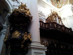 Pulpit and choir in the St. Florian church, Linzer Land