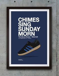 A stylish print that brings music and adidas fashion together. Print is available in A4 A3 A2 B2 sizes.We can also frame this for you in A2 B2 sizes and delivery it to anywhere in the UK.Canv... Stone Roses Waterfall, Casual Art, Adidas Retro, Adidas Fashion, Poster Wall, Manchester, Iphone Wallpaper, Shirt Designs, Advertising