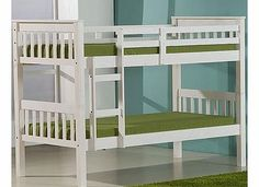 Ideal White Novaro Bunk Bed A quality chunky style wooden bunk bed with solid white finish. Its great to save space in a shared room - and its so well made that when the children get a little older the bed can be easily split  http://www.comparestoreprices.co.uk/bunk-beds/ideal-white-novaro-bunk-bed.asp