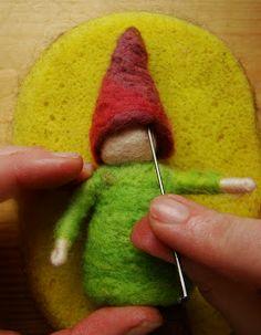 tutorial: how to needle felt a gnome