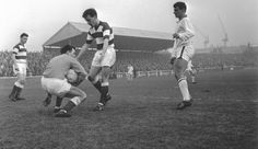 Action from Hamilton Accies v Third Lanark in the 1960s.