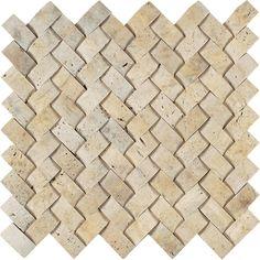 Light Gold Herringbone Travertine Mosaic Tile | Arizona Tile