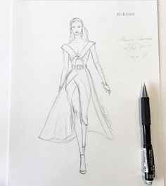 Unfinished #handdrawn #sketch #workinprogress #eliesaab #sketching #fashionillustration #illustration #hautecouture #luxury #designer #beautiful #chic #structured #dress #gown #couture #fashionblogger #bridesmaids #instafashion #nataliazorinliu #blogger #followme #follow #instalike #wedding #instagood #pencildrawing #drawing #draw #fashionista