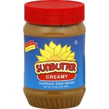 Sun butter! Peanut free peanut butter!! Best invention for people with peanut allergies.   -I really want to track some of this down and try it!