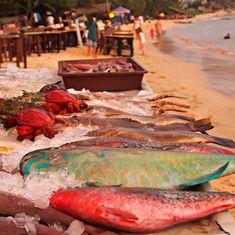 Beach Mirissa Sri Lanka Food