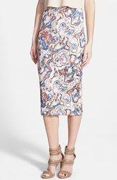 Leith Abalone Print Jacquard Skirt