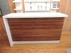 Bar White Corian W/ Wood Face Waterfall Edge On Left - Warner Bros. Property Department