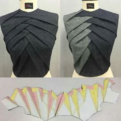 Sewing Techniques Advanced Técnica origami Glorious Sewing Basic Tips Ideas. All Time Best Sewing Basic Tips Ideas. Dress Sewing Patterns, Clothing Patterns, Pattern Sewing, Sewing Ideas, Sewing Tips, Diy Clothing, Sewing Clothes, Origami Clothing, Fashion Sewing