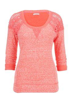 crochet shoulder pullover top - maurices.com