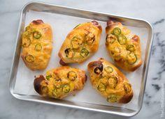 Jalapeno Cheddar Hot Dog Buns- The Little Epicurean