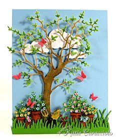 KC MEmory Box Garden Pots Grand oak and flower pot dies Flower Boxes, Flower Cards, Paper Flowers, Memory Box Cards, Memory Box Dies, Paper Cards, Diy Cards, Bouquet Shadow Box, Flower Pattern Drawing
