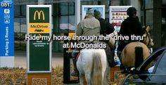 YES! There is a McD's right down the road from the stable...on the summer to do list with the girls