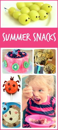 Delicious, refreshing summer snacks for kids! Perfect for lazy summer days, summer camps, or just because!