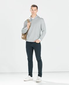 ZARA - PROMOTIONS - SWEATER WITH LEATHER APPLIQUÉS