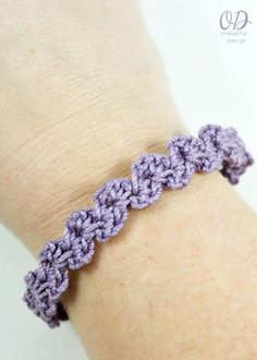 """This is my favorite bracelet pattern - I think it might become Your Favorite Bracelet Pattern too! It is worked lengthwise - making it super easy to customize to any size wrist. It has some stretch to it to allow it to slide over the widest part of"