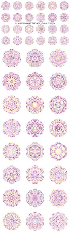 24 Floral Mandala Logo Templates #geometry #logo #LogoTemplate #AbstractLogoTemplate #MandalaGraphics #mandala #AbstractLogoDesign #MandalaGraphic #esthetician #floralgraphics #AbstractLogos #SacredGeometry #logo #GeometricLogo #chakra #logotemplates #decorator #MandalaLogoDesign