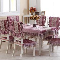 Manteles de mesa de comedor buscar con google - Forro para sillas de comedor ...