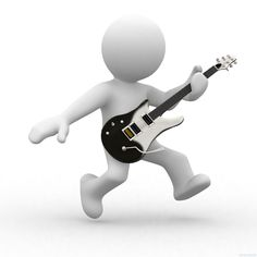 Illustration about human playing guitar like a music star. Illustration of people, music, abstract - 3578848 Cute Wallpaper Backgrounds, Cute Wallpapers, 3d Human, Sculpture Lessons, 3d Icons, Emoji Images, 3d Figures, Music Promotion, Fire Heart