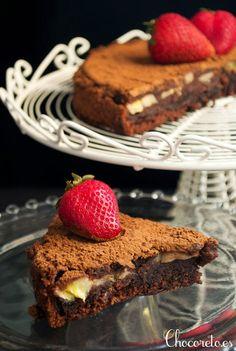 Bizcocho vegano de chocolate y plátano - Pecados de Reposteria