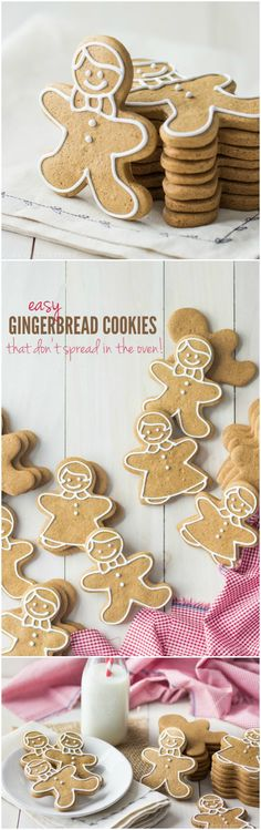 The best gingerbread cookie recipe I've ever tried- these kept their neat edges while baking and didn't spread at all! Tons of flavor, and a really nice texture too that's not too hard to bite :)