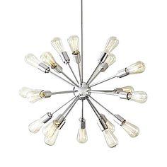 Cheapest sputnik light option: Creative 18-Light Brushed Nickel Chandelier – USD $ 71.99