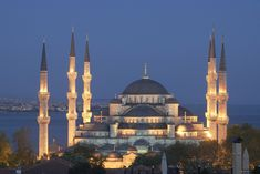 Photo about Main mosque of Istanbul - Sultan Ahmet camii. Most famous as Blue mosque. View at early evening. Image of istanbul, sight, trip - 738947 Oh The Places You'll Go, Places To Travel, Places To Visit, Beautiful Mosques, Beautiful Places, Amazing Places, Blue Mosque Turkey, Sultan Ahmed Mosque, Blue Mosque Istanbul