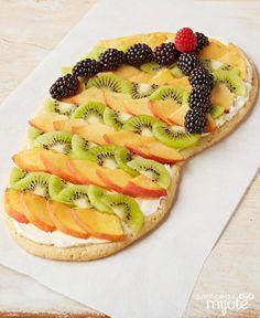 Dessert aux fruits à la pâte à biscuit en forme de gougoune #recette