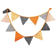 Shop For Black Orange Vintage Floral Fabric Wedding Bunting Halloween Party Triangle Pennant Banner Hanging Decoration for  Halloween Gifts Idea Stores for  #Halloween Gifts Idea Sale