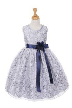 New Flower Girls Striped Organza Dress Baby Kids Easter Wedding Party Fancy 733
