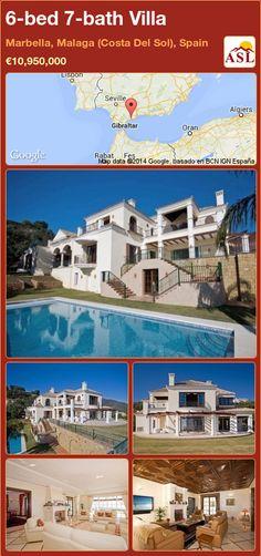 6-bed 7-bath Villa in Marbella, Malaga (Costa Del Sol), Spain ►€10,950,000 #PropertyForSaleInSpain