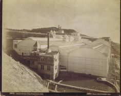 Rear view of the Sutro Baths and Cliff House Complex, Ocean Beach, San Francisco. Photo by Taber. Glenn D. Koch Collection