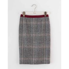 Boden Freya Pencil Skirt ($138) ❤ liked on Polyvore featuring skirts, checkered skirt, herringbone skirt, retro skirts, pencil skirt and tweed skirt